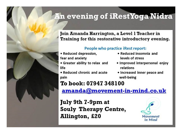 Irest Evening July 9th